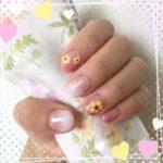 今週は可愛く夏らしいピンク&ホワイトのグラデーションセルフジェルネイル♪