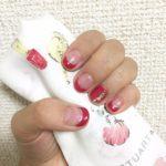 秋可愛い赤系フレンチネイル♪私流剝がれにくいセルフジェルネイルのやり方紹介!